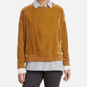Kenneth Cole velvet sweatshirt
